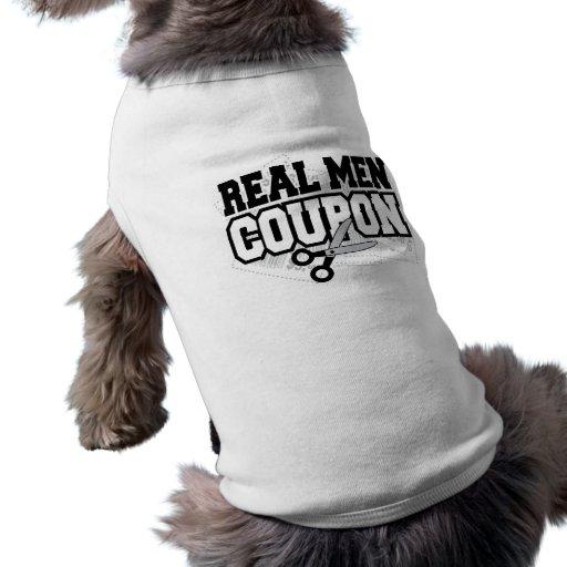 Cupón real de los hombres camisetas de mascota