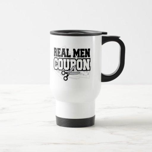 Cupón real de los hombres taza de café