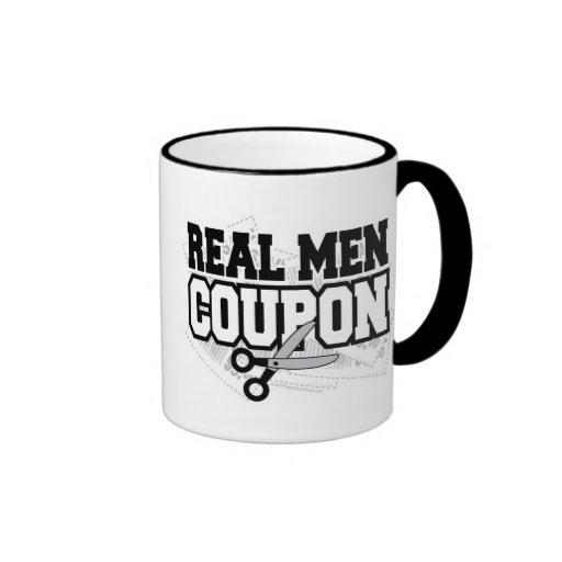 Cupón real de los hombres tazas
