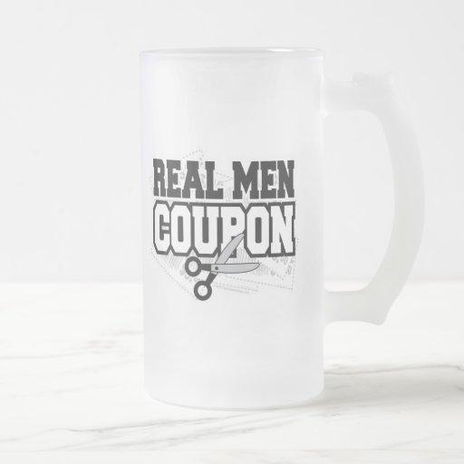 Cupón real de los hombres taza