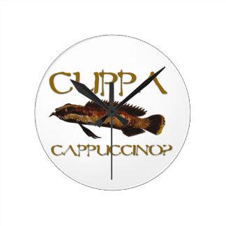Cuppa cappuccino? round wall clocks