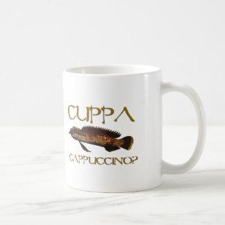 Cuppa cappuccino? classic white coffee mug