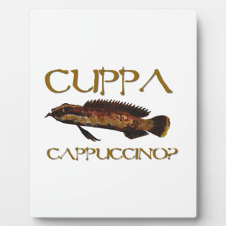 Cuppa cappuccino? display plaque