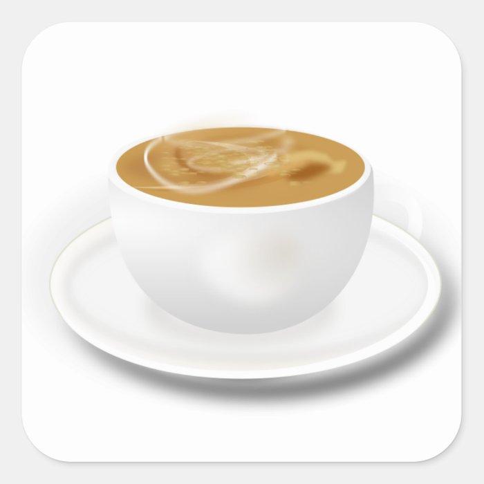 Cuppa Coffee Square Sticker