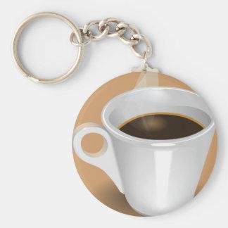 Cuppa Cuppa Burnin' Love Basic Round Button Keychain