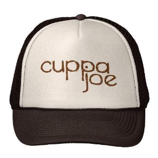 cuppa joe logo in brown - trucker hat