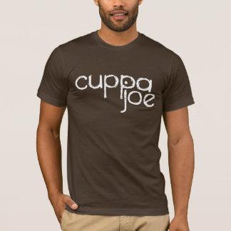 cuppa joe logo in white - T-Shirt