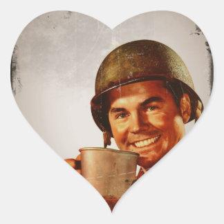 Cuppa Joe Pegatina En Forma De Corazón