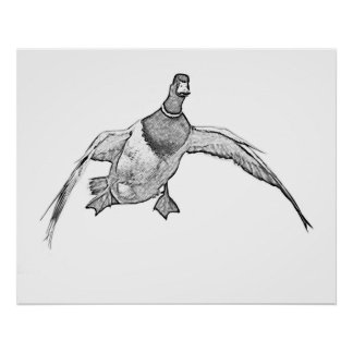 Cupped Wings - Duck Art T-shirt Poster