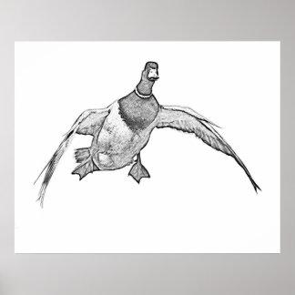 Cupped Wings - Duck Art T-shirt Print
