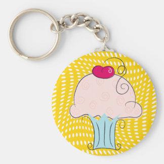 cuppy basic round button keychain
