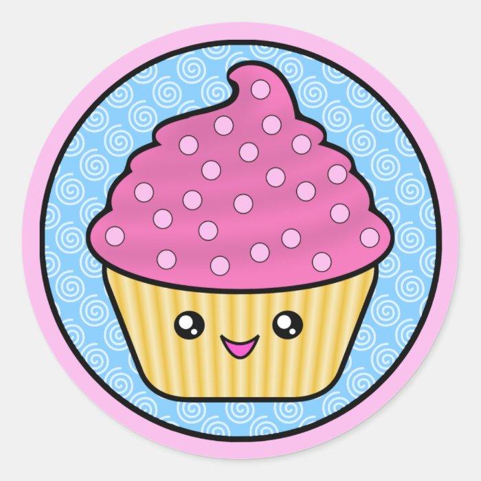 Cuppy Cake Kawaii Stickers