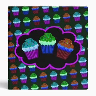 Cuppy cakes dark 3 ring binder