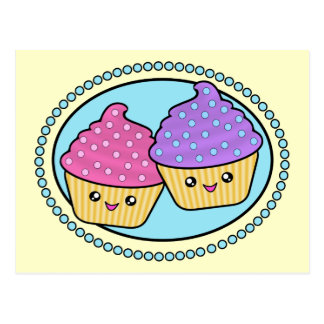 Cuppy Cakes Friends Kawaii Postcard