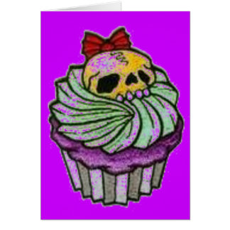 cuppycake skull greeting cards
