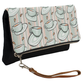 Cups Medley green Fold-Over Clutch
