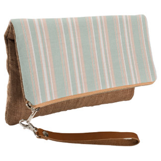 Cups Medley green stripes Fold-Over Clutch