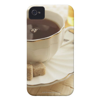 Cups of coffee and sugar. iPhone 4 cover