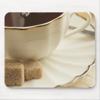 Cups of coffee and sugar. mouse pad