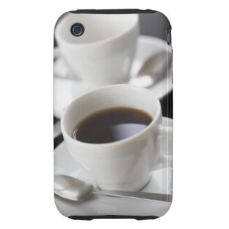 Cups of coffee with saucer iPhone 3 tough covers