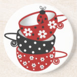 Cups of Lady Bugs Coasters