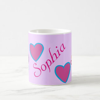 """cups with names """"Sophia """""""