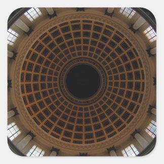 cúpula calcomania cuadradas personalizadas