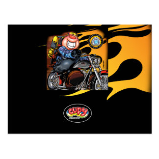 CUPY black motorcycle Postcard