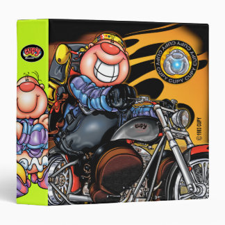 CUPY motorcycle green 3 Ring Binder