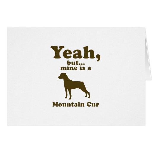 Cur de la montaña tarjeta de felicitación