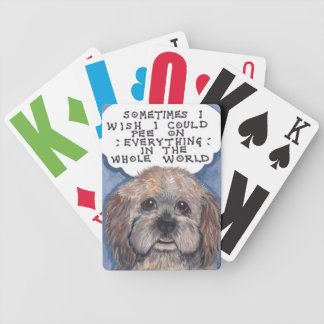 """""""Cur""""mudgeon dog with Attitude Playing Cards"""