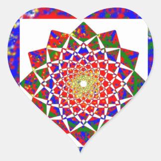 Cura CHAKRA: Arte Boundryless de la alta energía Pegatina En Forma De Corazón