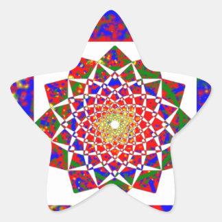 Cura CHAKRA: Arte Boundryless de la alta energía Pegatina En Forma De Estrella