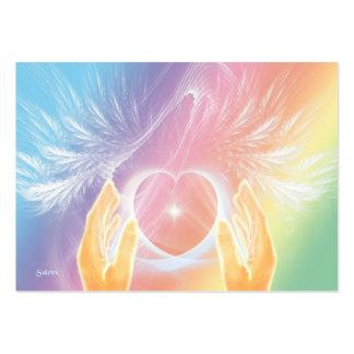 Cura con ángeles tarjetas de visita grandes