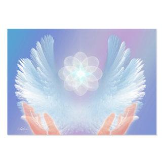 Cura con los ángeles azules tarjetas de visita grandes