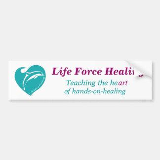Cura de la fuerza de la vida etiqueta de parachoque