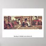 Cura de un niño de Sandro Botticelli Poster