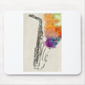 Cura del saxofón tapetes de ratón