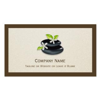 Cura holística - logotipo elegante del zen tarjeta de visita