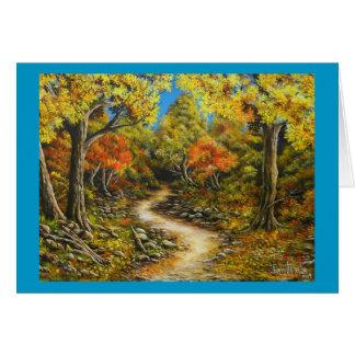 Cura llamada pintura de la caída de la caída tarjeta de felicitación
