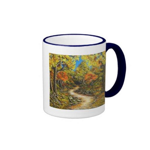 Cura llamada pintura de la caída de la caída tazas de café