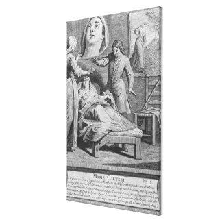 Cura milagrosa de una mujer ciega lona envuelta para galerías