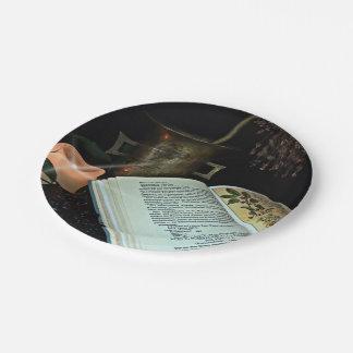 Cura natural plato de papel 17,78 cm