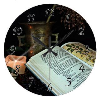 Cura natural reloj redondo grande