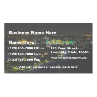 Curacao at Night - Port of Willemstad Business Card