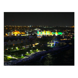 Curacao at Night - Port of Willemstad Postcard