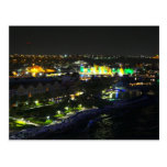 Curacao at Night - Port of Willemstad Postcards