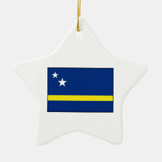 Curaçao - bandera de Curacaoan Adorno Navideño De Cerámica En Forma De Estrella