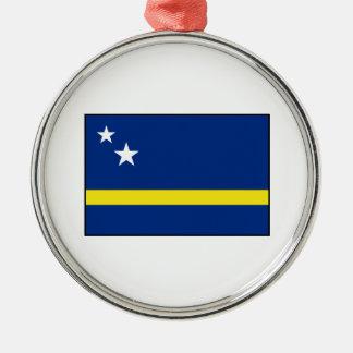 Curaçao - bandera de Curacaoan Adorno Navideño Redondo De Metal