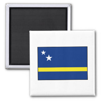 Curaçao - bandera de Curacaoan Imán Cuadrado